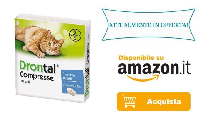 Antiparassitario in compresse per gatto infestato da Tenia
