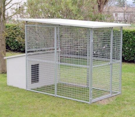 Box per cani da giardino modello ECO + Cuccia Dobermann