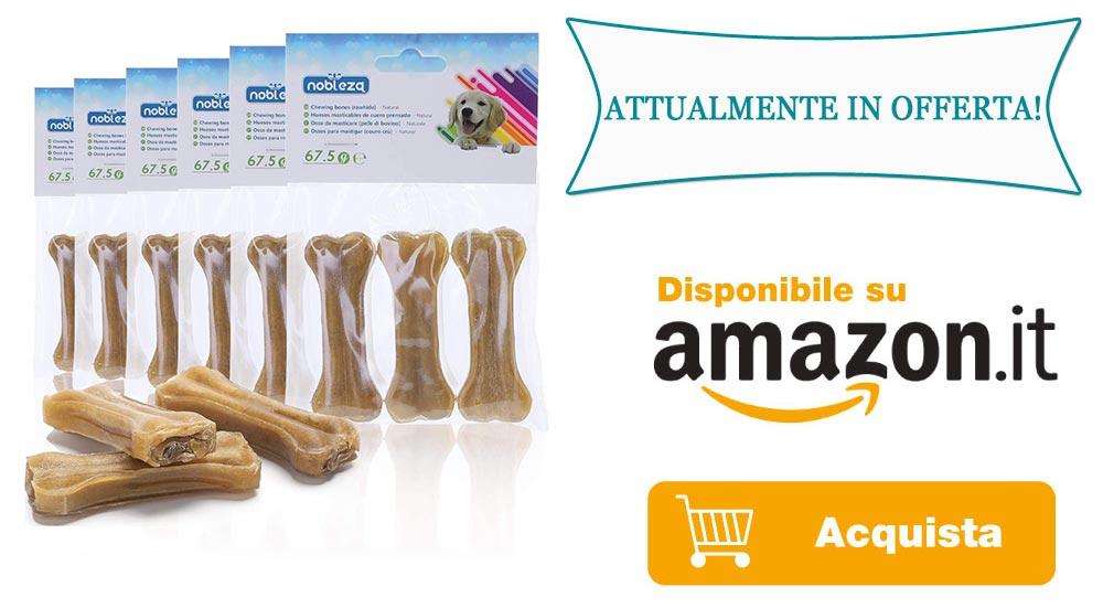 Ossi per cani da Masticare Formato Risparmio in Offerta su Amazon